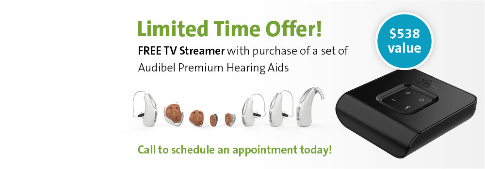 Audibel Consumer Accessory Promo - Free TV Streamer with purchase of Audibel premium hearing aids